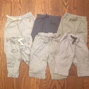 6 pairs baby pants